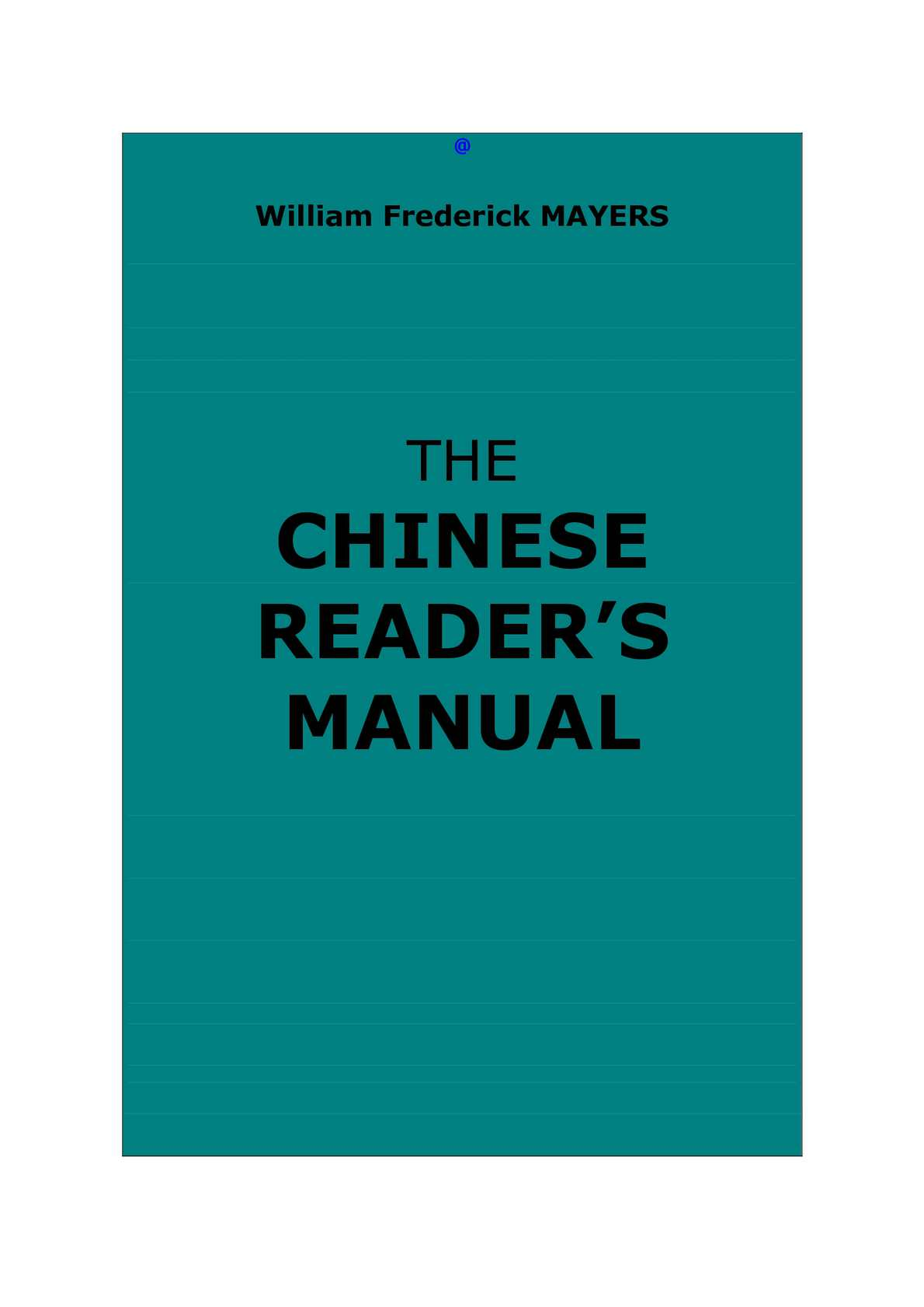 Calaméo - Mayers, William F. : The Chinese Reader\'s Manual
