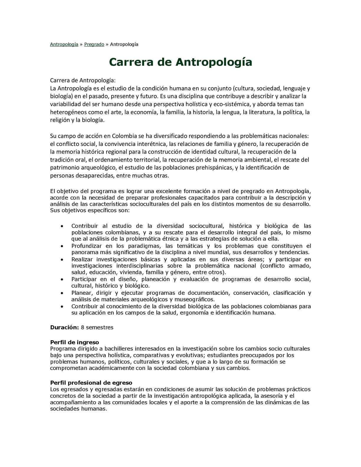 Calaméo Pensum Para La Creación De La Facultad De Antropología