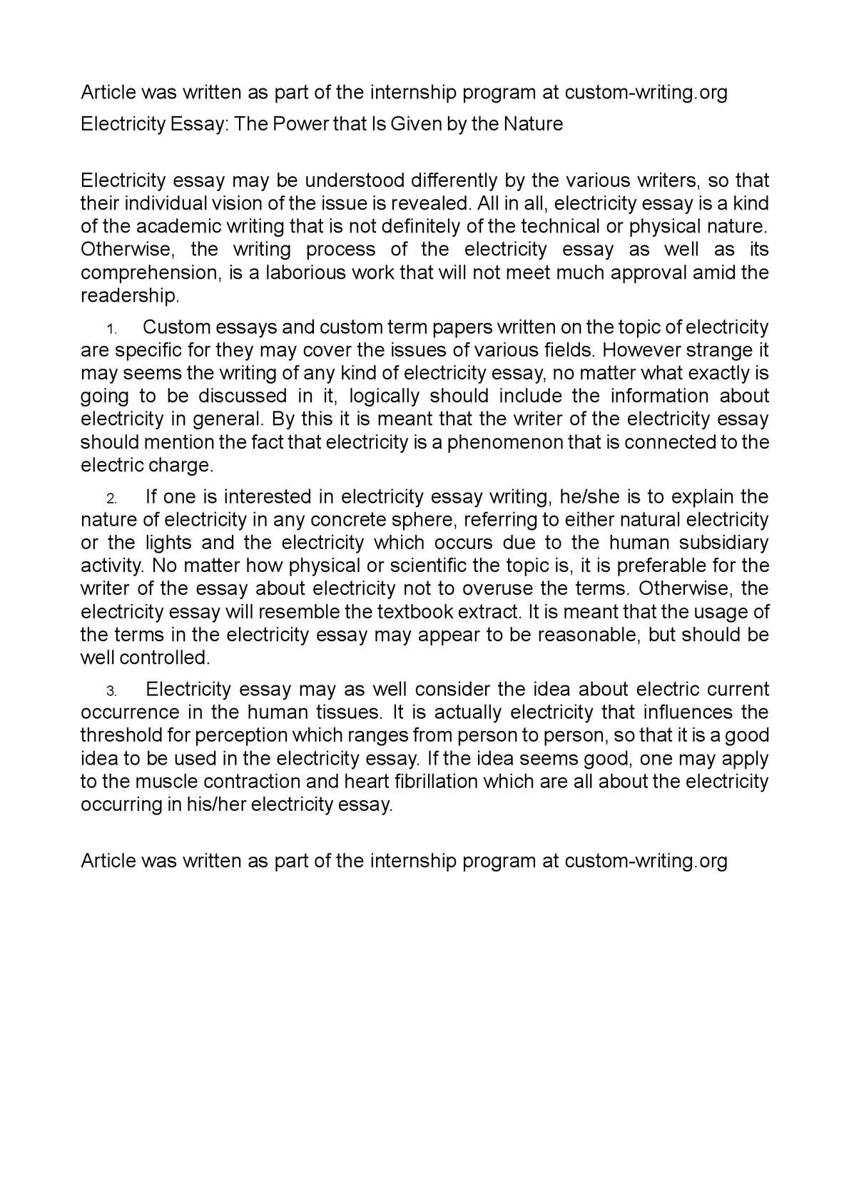 Thesis Essay Topics  Essay Topics High School also Best Essays In English Calamo  Electricity Essay The Power That Is Given By The Nature Good Thesis Statements For Essays