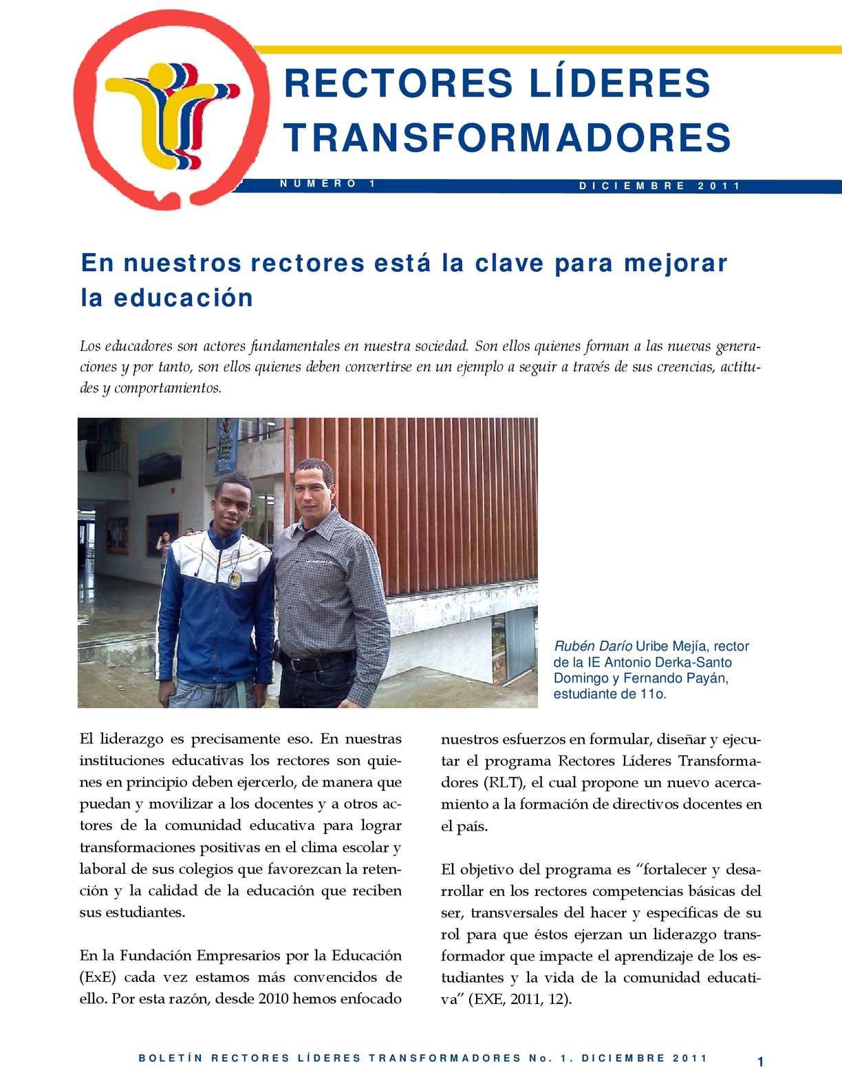 Calaméo - Boletín número 1 del Programa Líderes transformadores