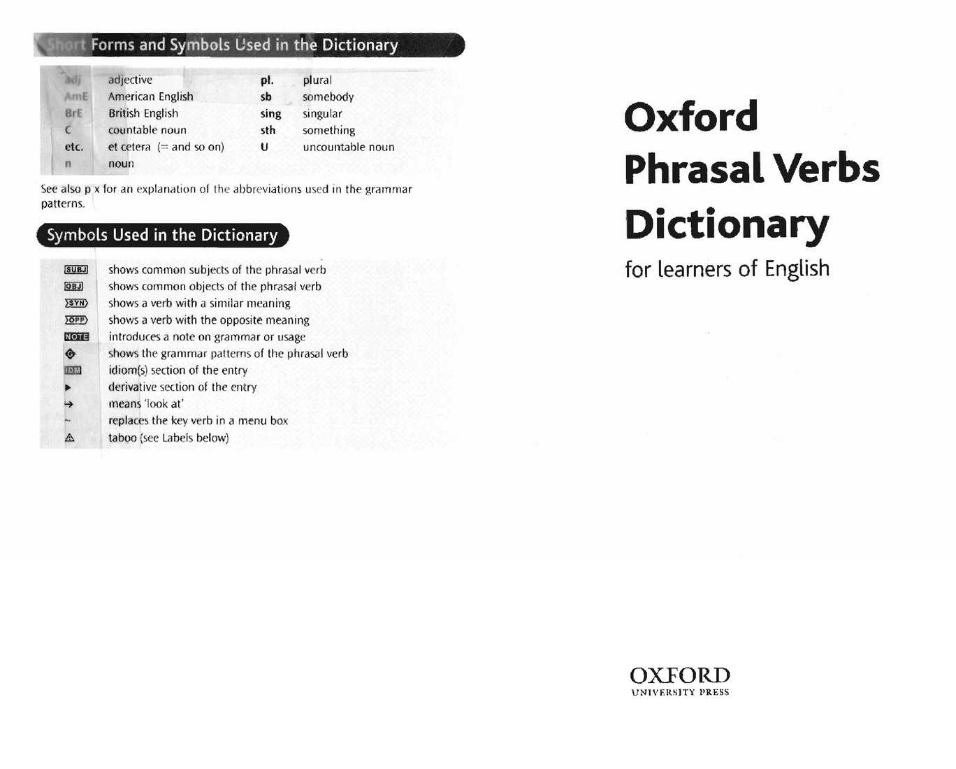 Oxford Phrasal Verbs Dictionary_0194315436