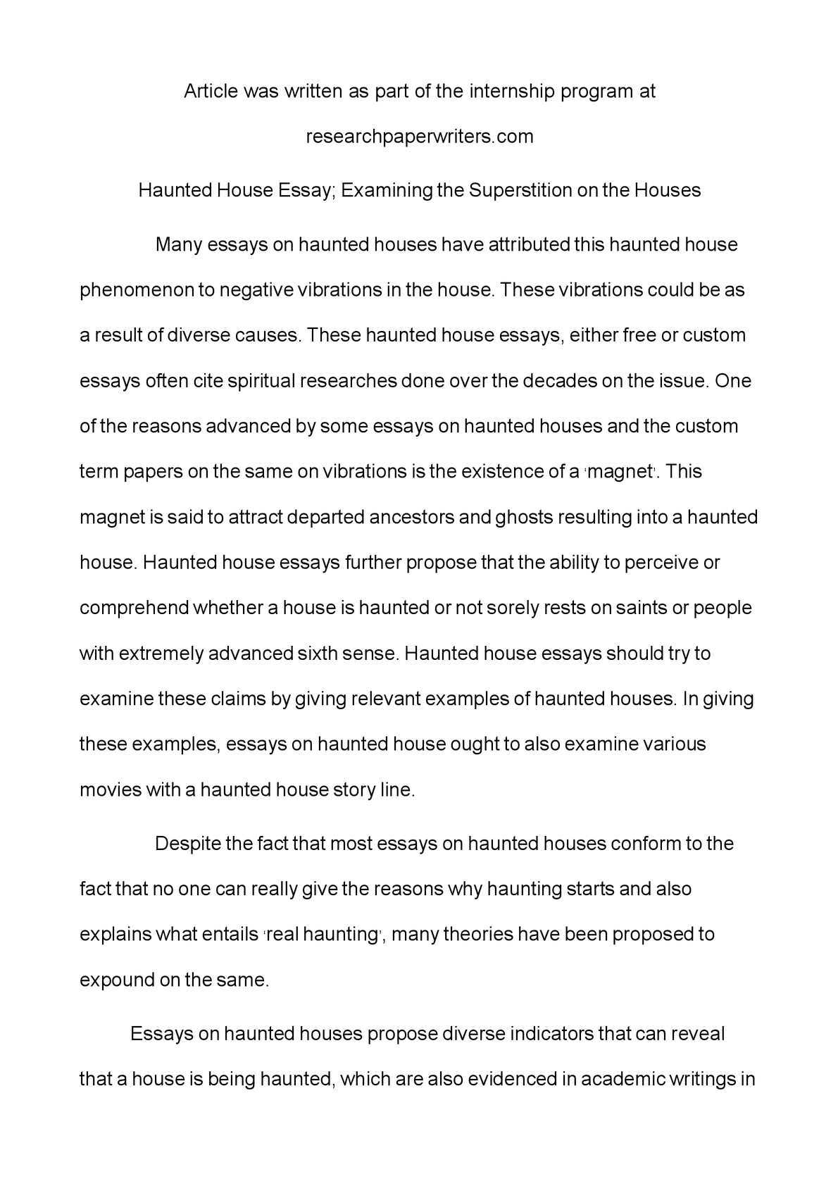 superstition essay calamatildecopyo haunted house essay examining the superstition on the