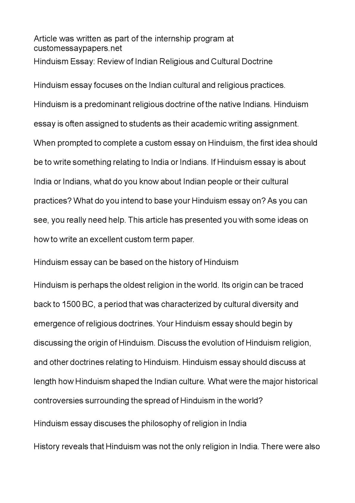 Calamo  Hinduism Essay Review Of Indian Religious And Cultural  Calamo  Hinduism Essay Review Of Indian Religious And Cultural Doctrine Linguistic Assignment Writer also English Essay Story  Writing Expert Help