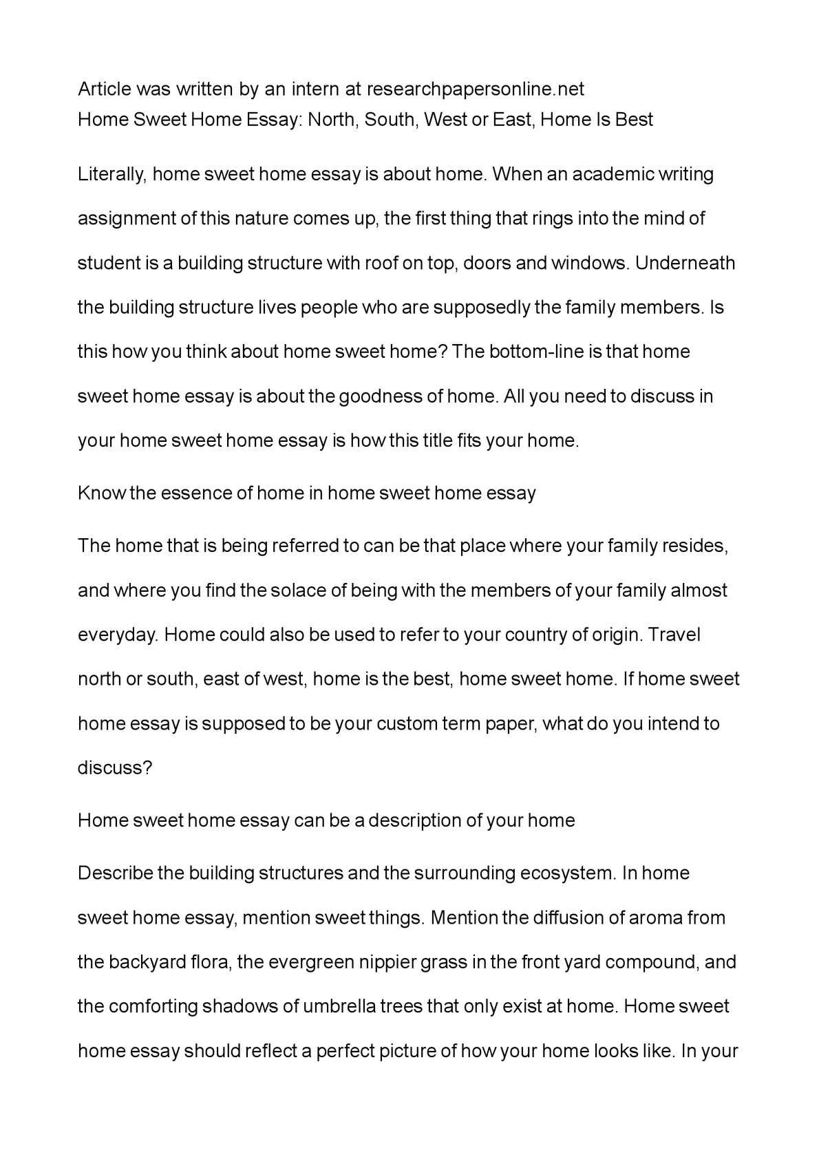 calam atilde copy o home sweet home essay north south west or east home calamatildecopyo home sweet home essay north south west or east home is best