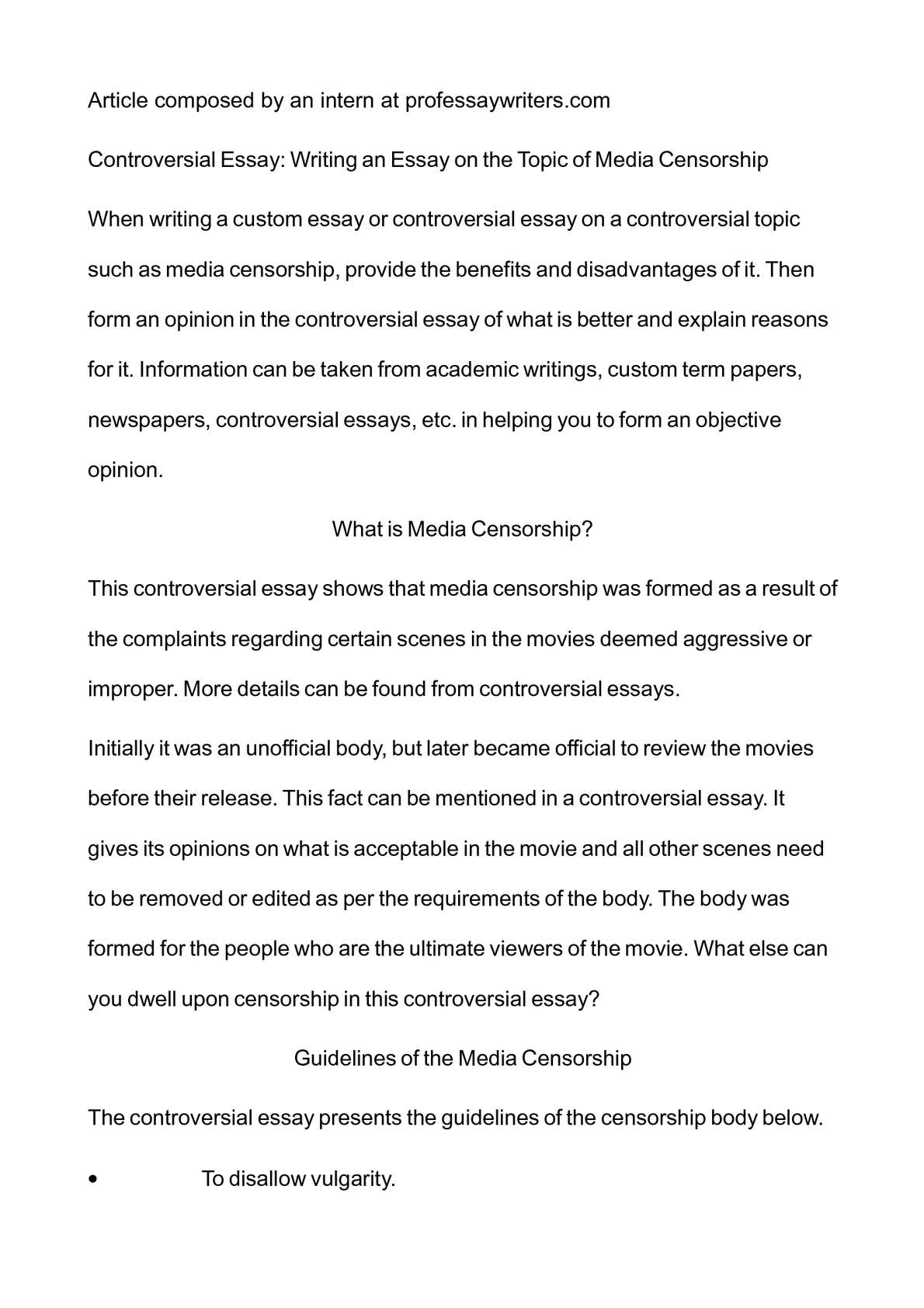 Essay About Paper Calamo  Controversial Essay Writing An Essay On The Topic Of Media  Censorship What Is A Thesis Statement In An Essay also How To Write A Proposal Essay Paper Calamo  Controversial Essay Writing An Essay On The Topic Of  What Is A Thesis In An Essay