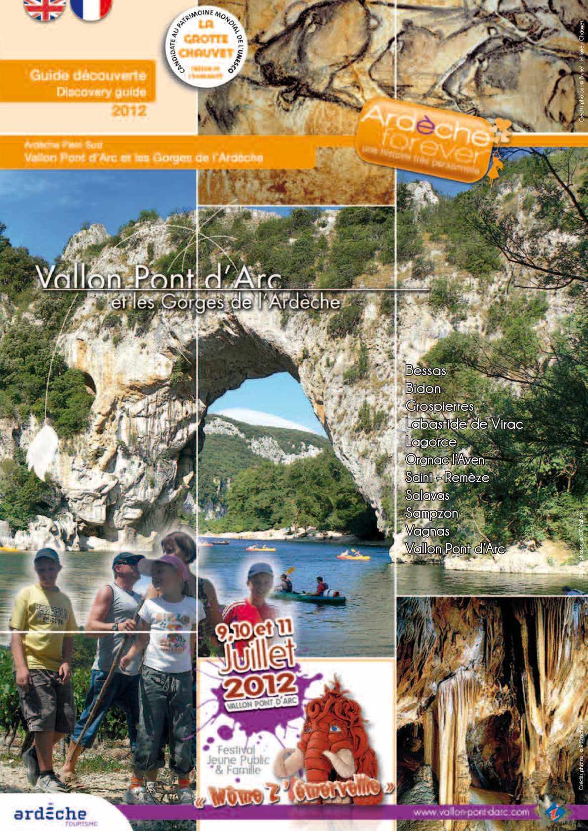Calam o guide 2012 vallon pont d 39 arc et les gorges de - Office de tourisme de vallon pont d arc ...