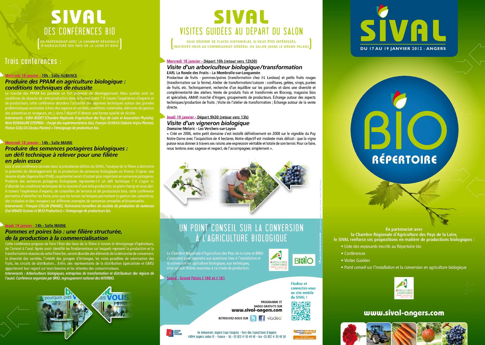 Calam o r pertoire bio sival 2012 - Chambre regionale d agriculture pays de la loire ...