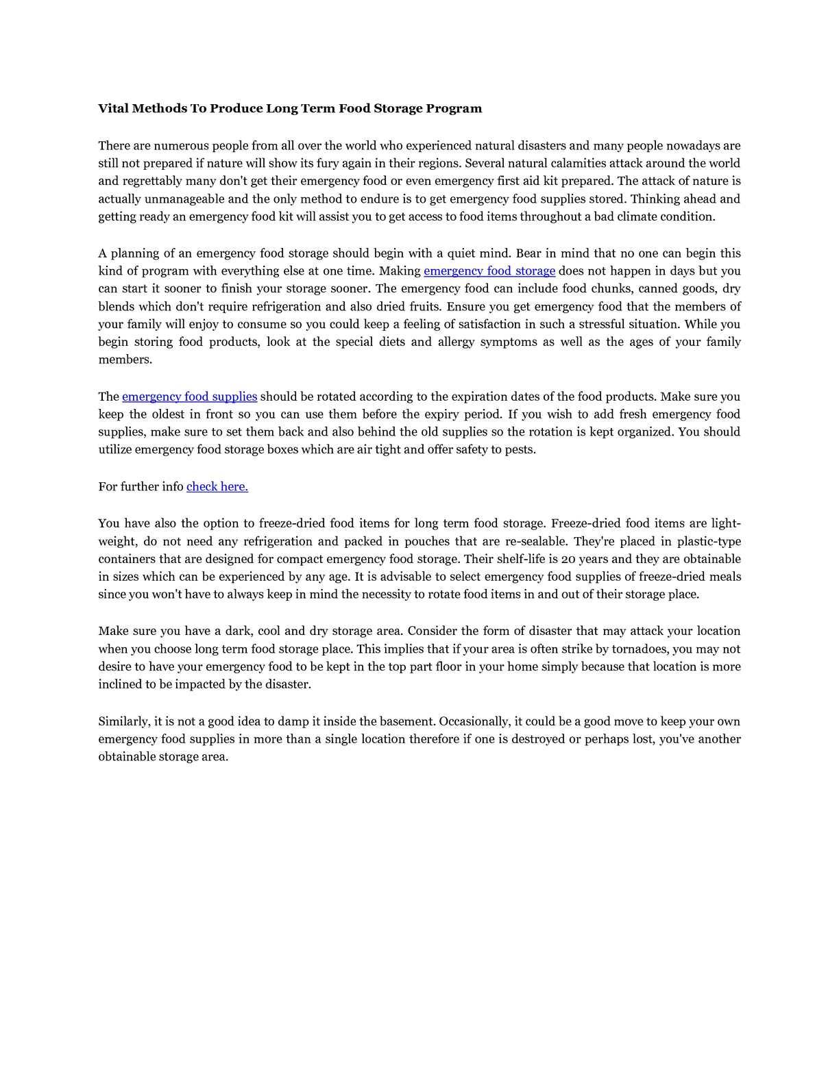 sc 1 st  Calameo & Calaméo - Vital Methods To Produce Long Term Food Storage Program