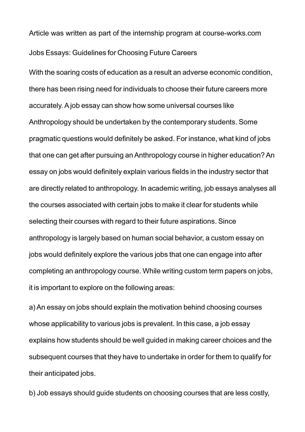 Thesis For Compare And Contrast Essay  Argumentative Essay Proposal also Science Essay Topic Calamo  Jobs Essays Guidelines For Choosing Future Careers How To Stay Healthy Essay