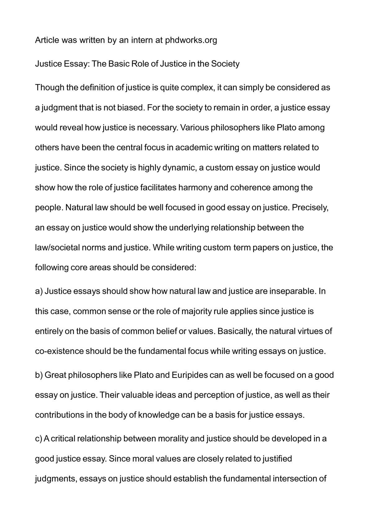 Calamo  Justice Essay The Basic Role Of Justice In The Society