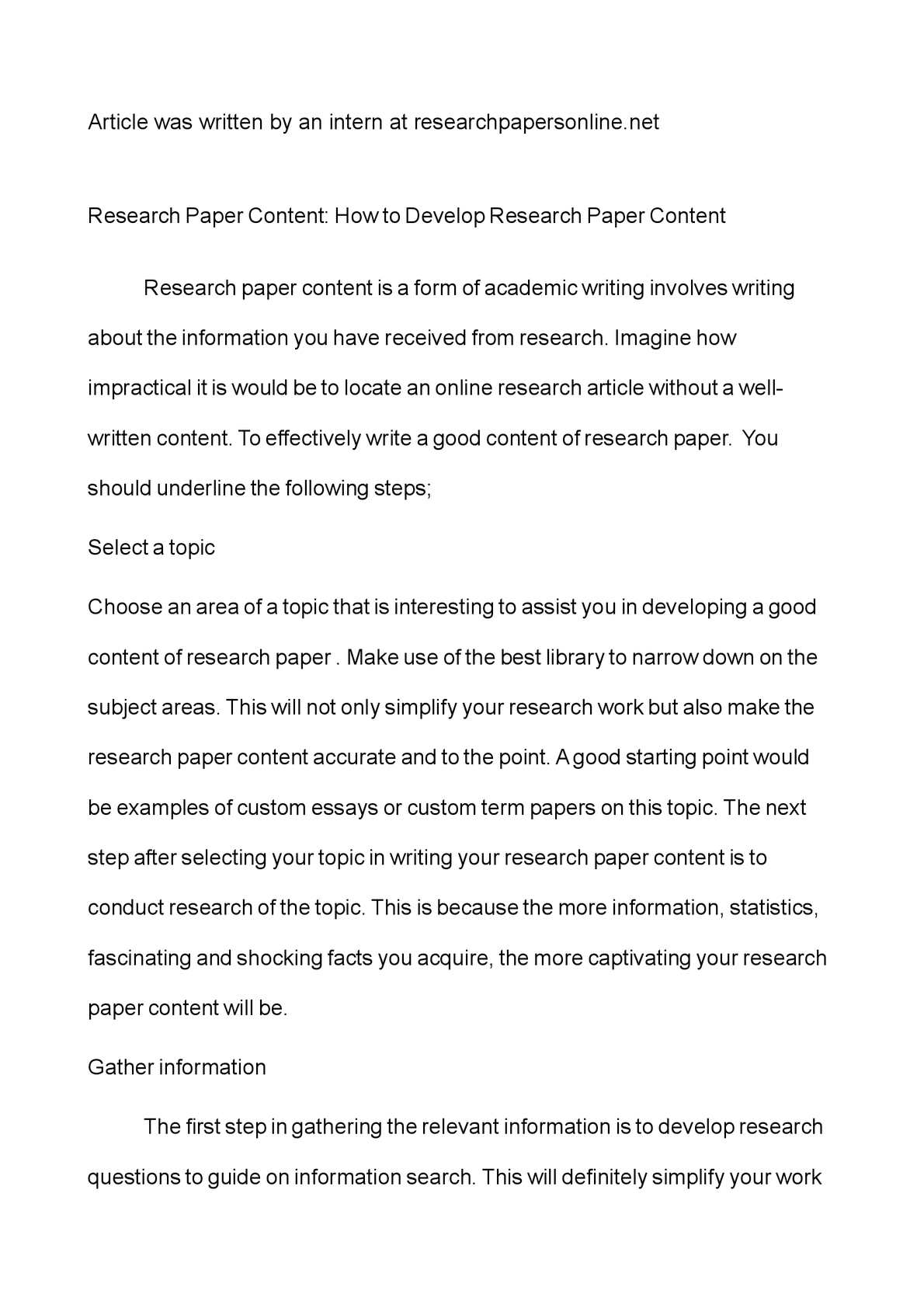 best topic for term paper
