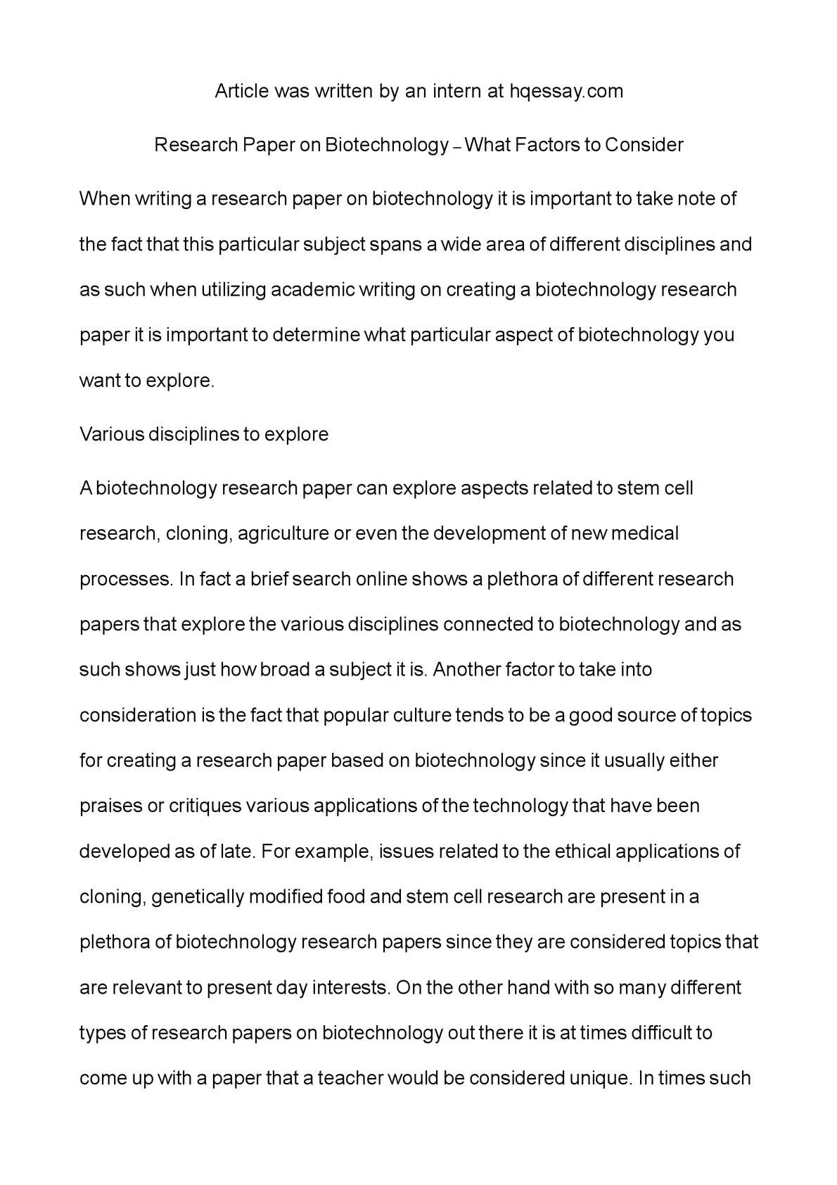 biotech research papers