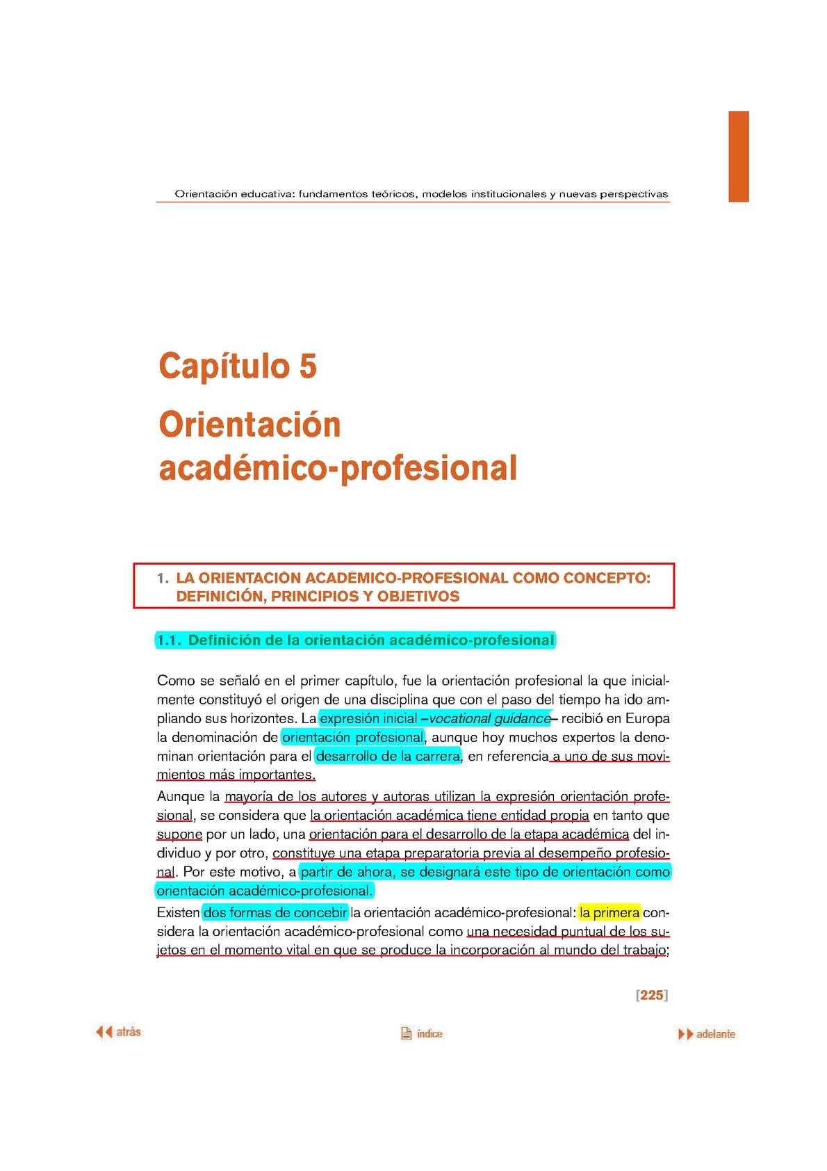 Calaméo - LA ORIENTACIÓN Y EL PLAN DE ORIENTACIÓN ACADÉMICO ...