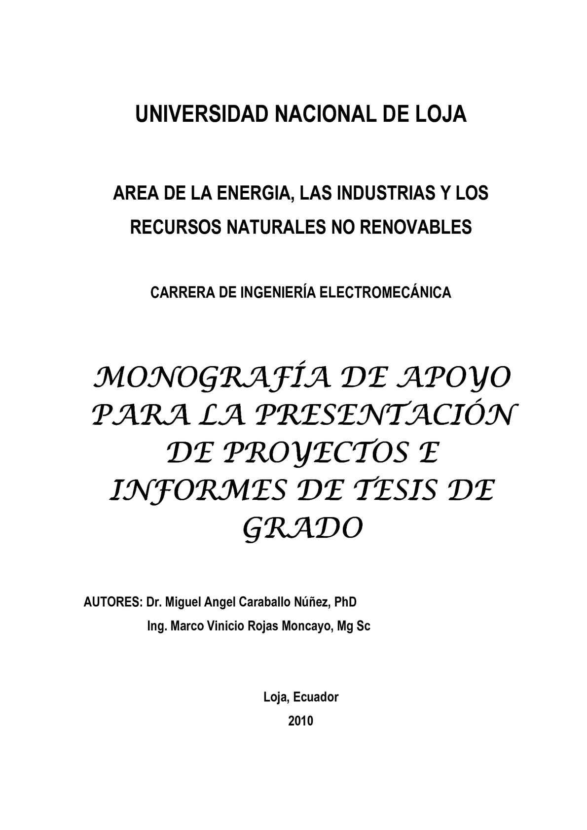 Calaméo - MONOGRAFÍA (PROYECTO DE TESIS)