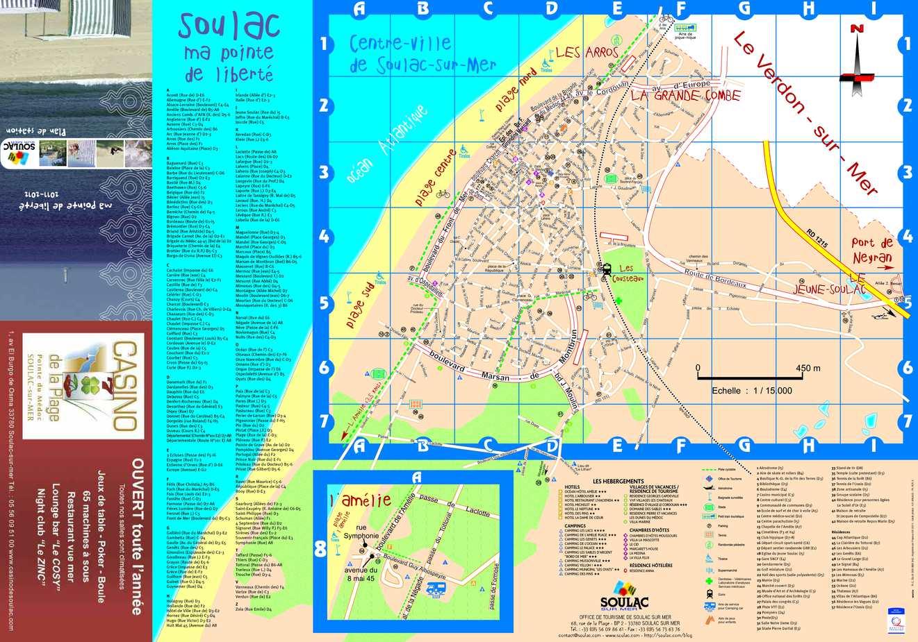 Calam o plan de soulac sur mer - Office de tourisme de l aiguillon sur mer ...