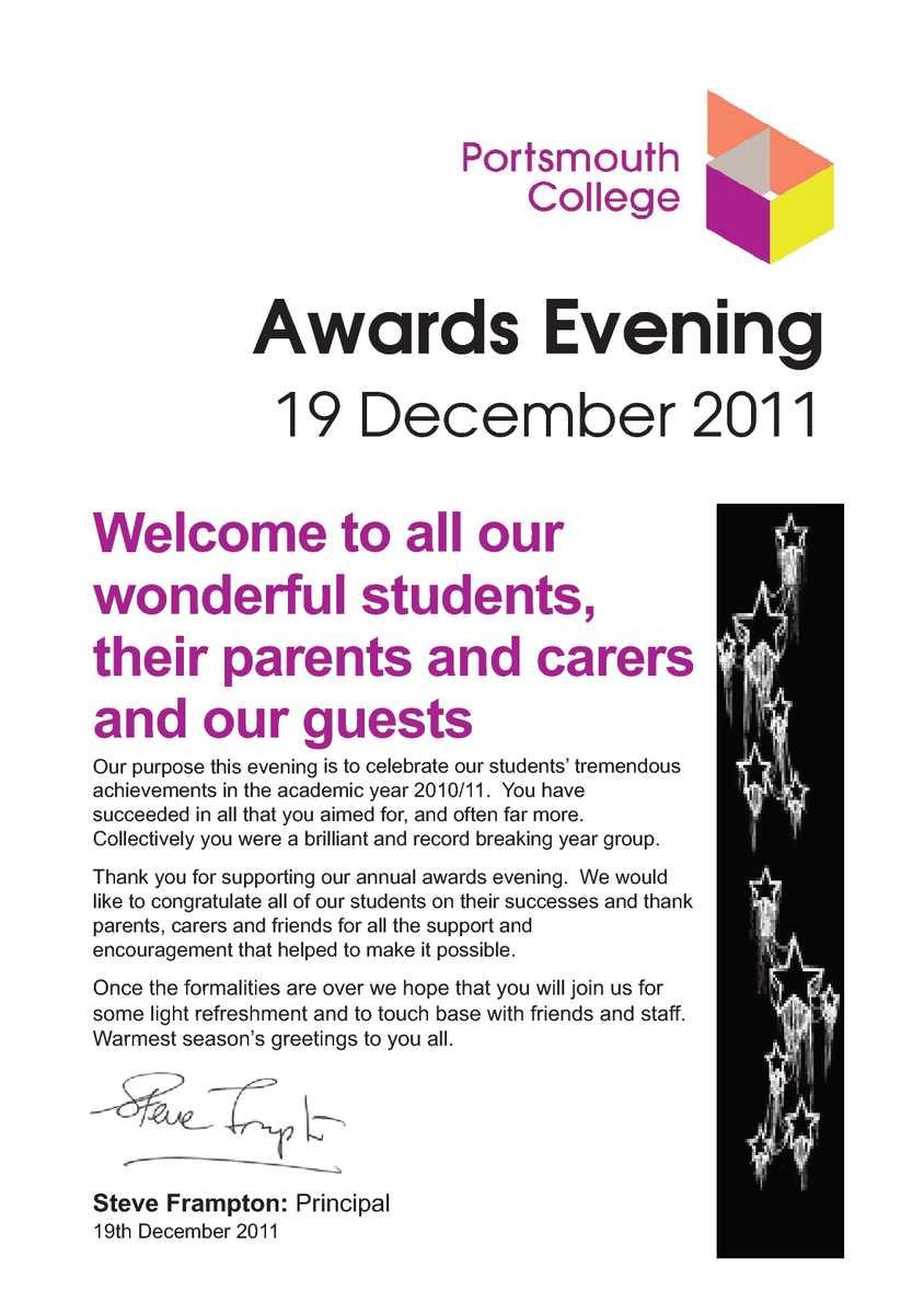 Calamo Awards Programme 2011