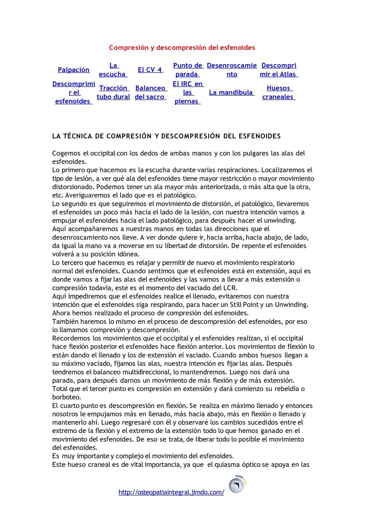 Compresión y descompresión del esfenoides