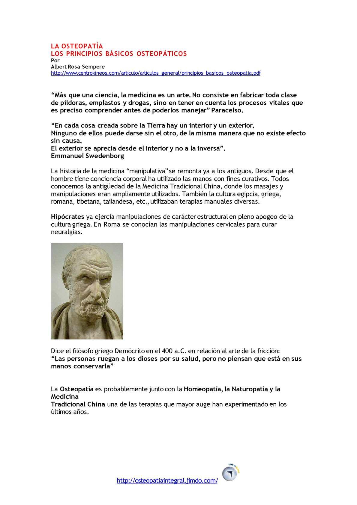 LOS PRINCIPIOS BÁSICOS OSTEOPÁTICOS