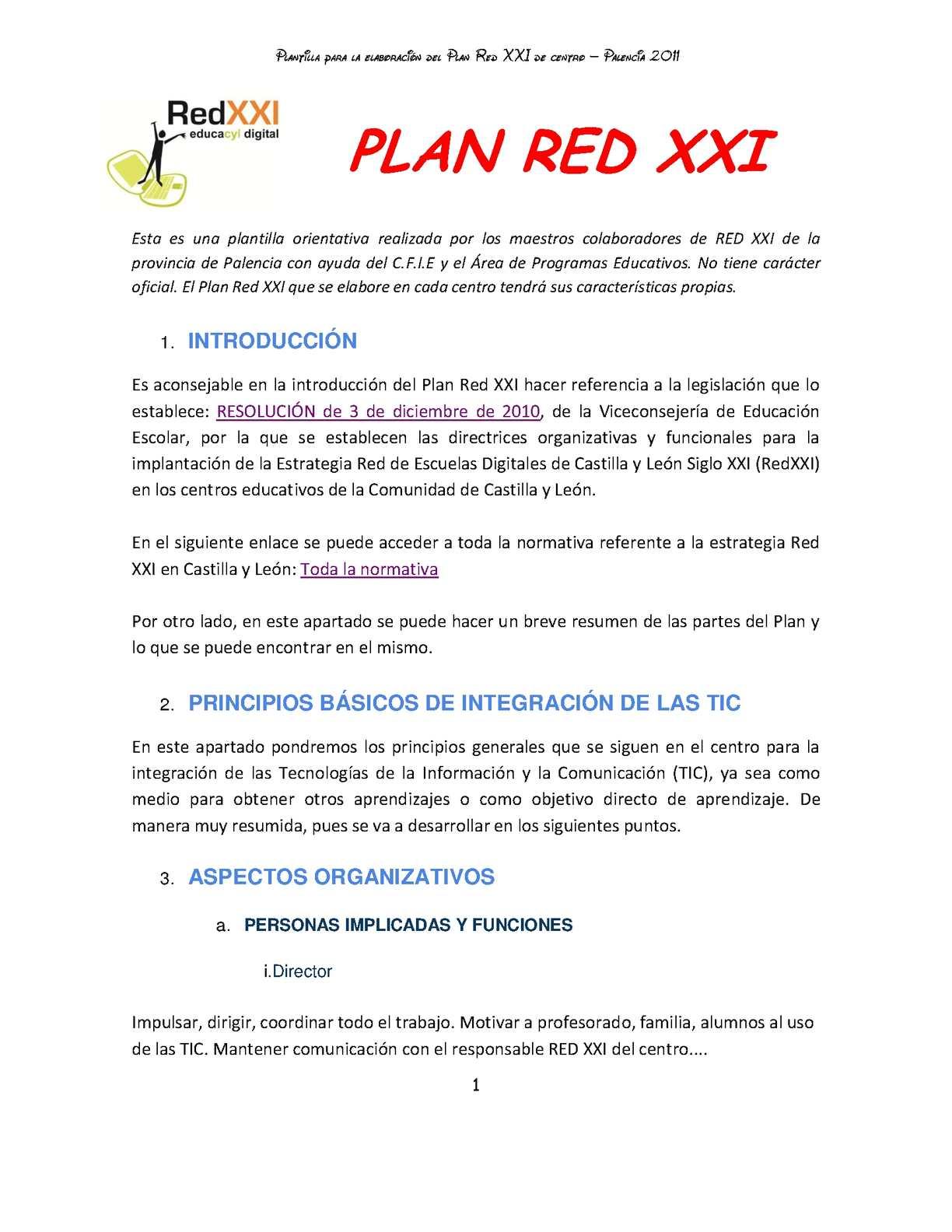 Calaméo - PLANTILLA PARA ELABORAR EL PLAN RED XXI