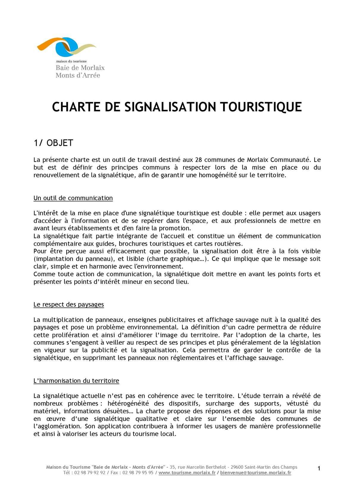 Calaméo CHARTE DE SIGNALISATION TOURISTIQUE