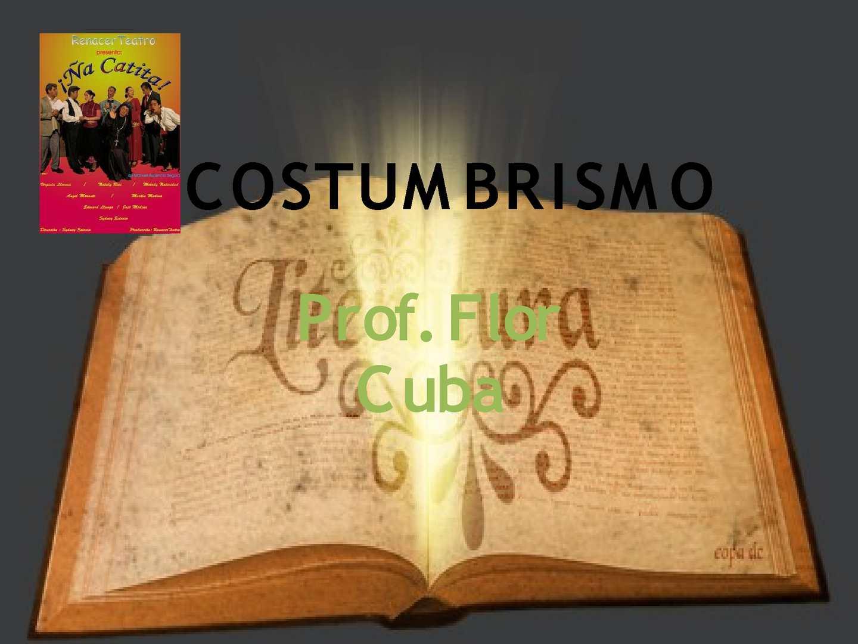 LITERATURA PERUANA: COSTUMBRISMO