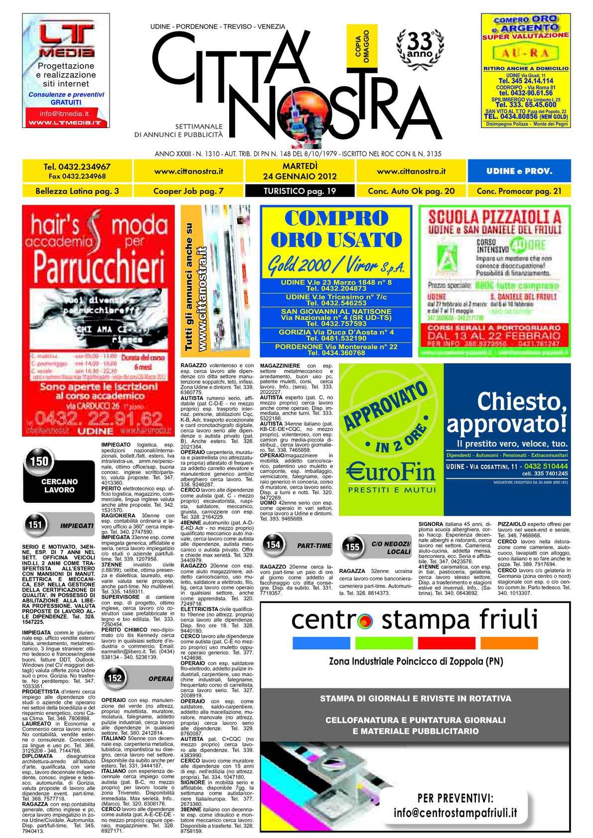 Calaméo Citt Nostra Udine Del 24 01 2012 N 1310