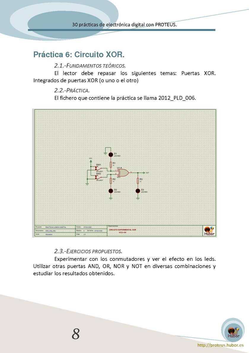 Circuito Xor : 30 prácticas de electrónica digital con proteus calameo downloader