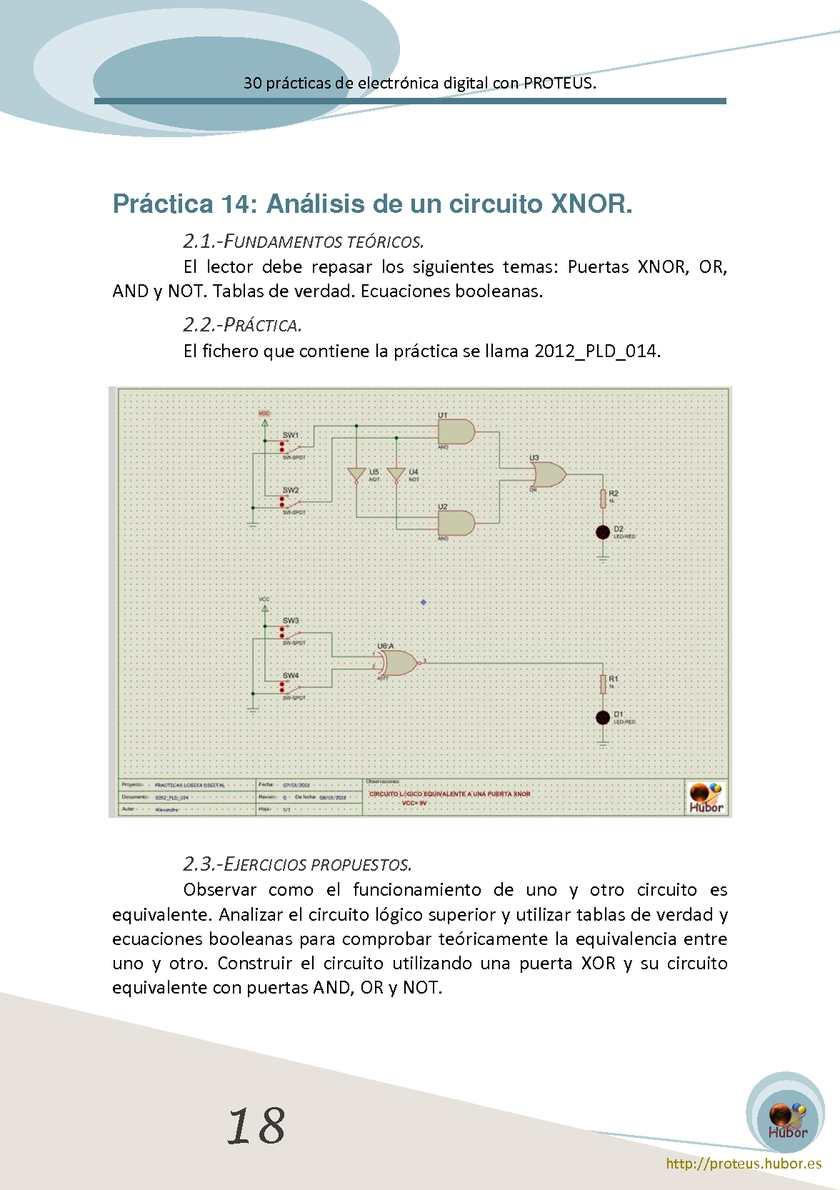 Circuito Xnor : 30 prácticas de electrónica digital con proteus calameo downloader
