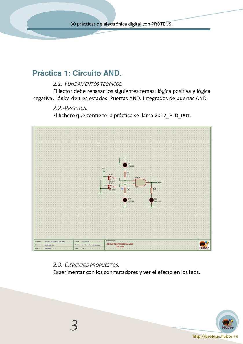 Circuito And : 30 prácticas de electrónica digital con proteus calameo downloader