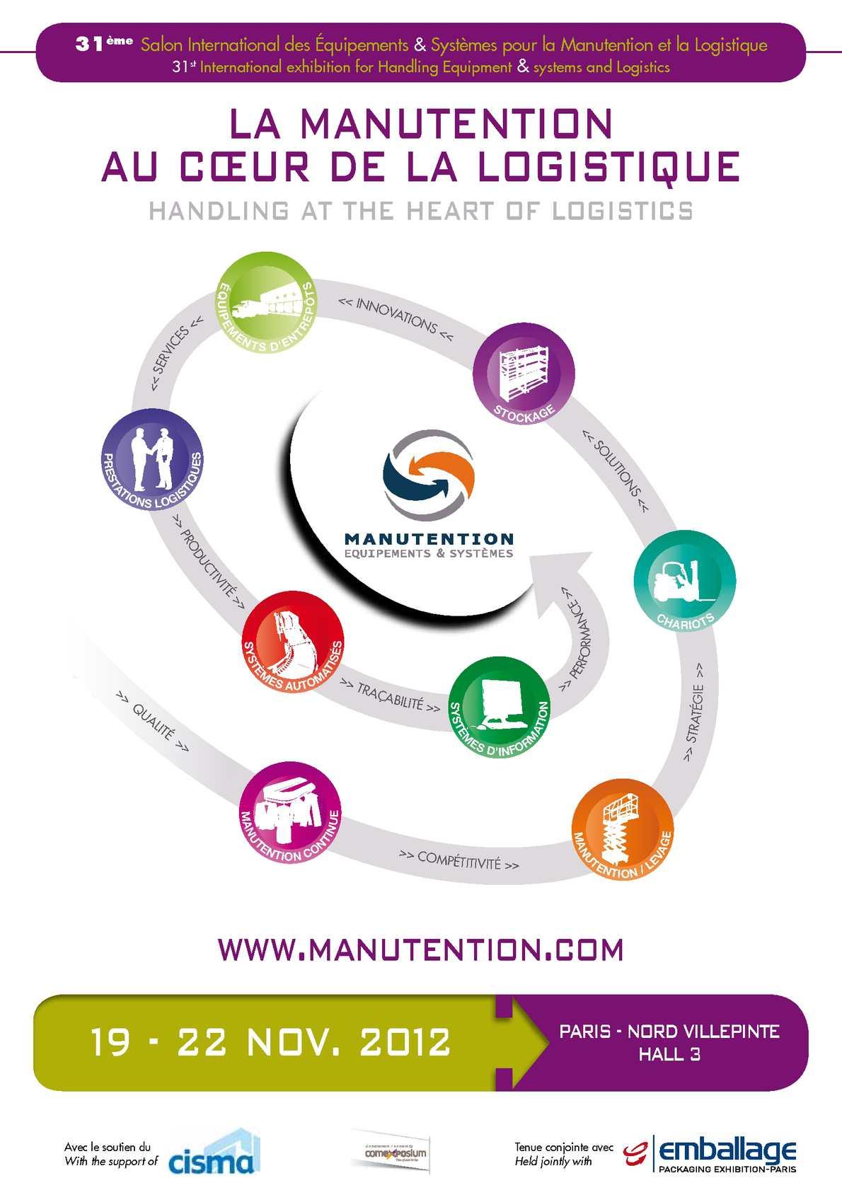 Calam o salon manutention plaquette commerciale for Salon de la manutention