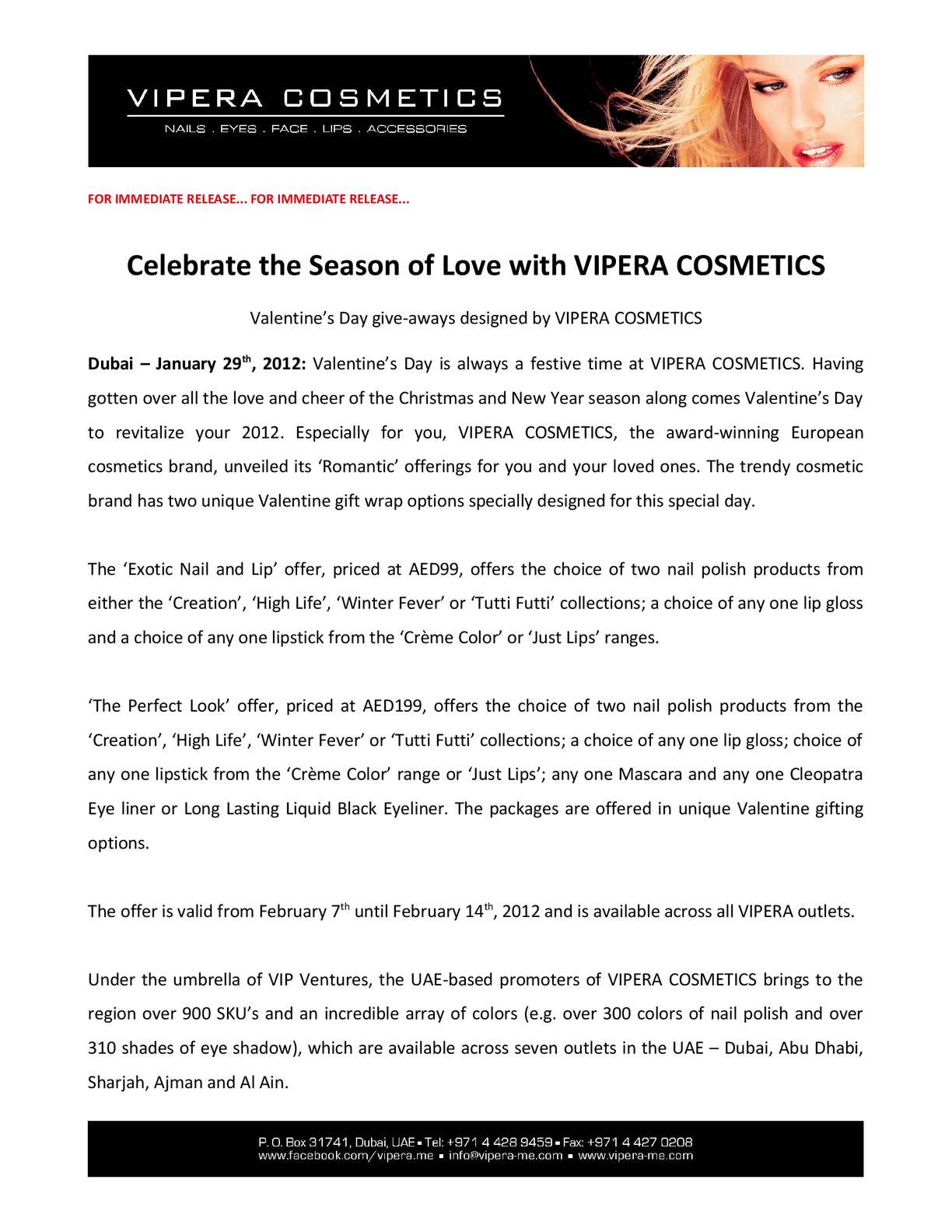 Calaméo - Celebrate the Season of Love with VIPERA COSMETICS