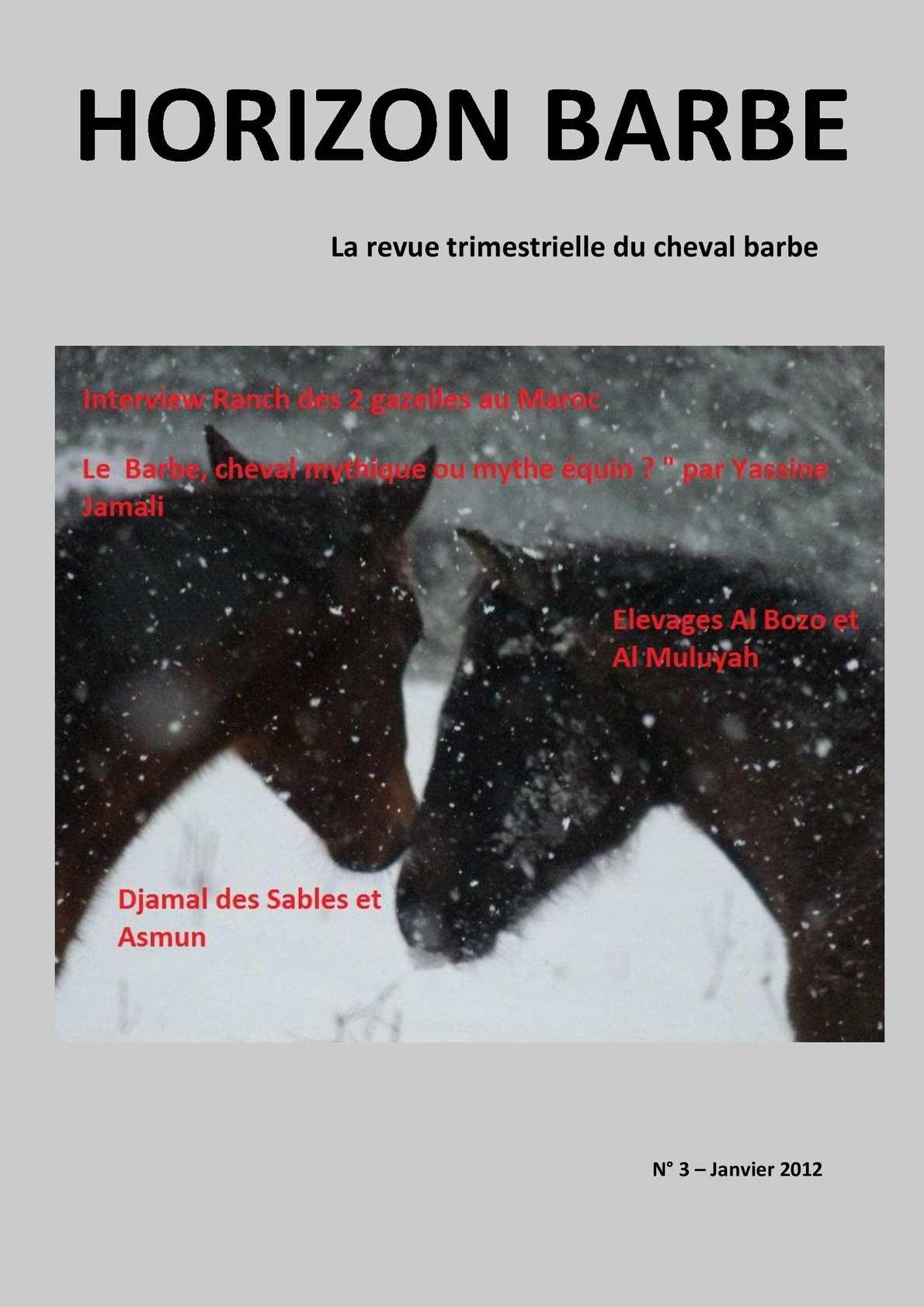 Horizon Barbe N°3 Revue trimestrielle du Cheval Barbe