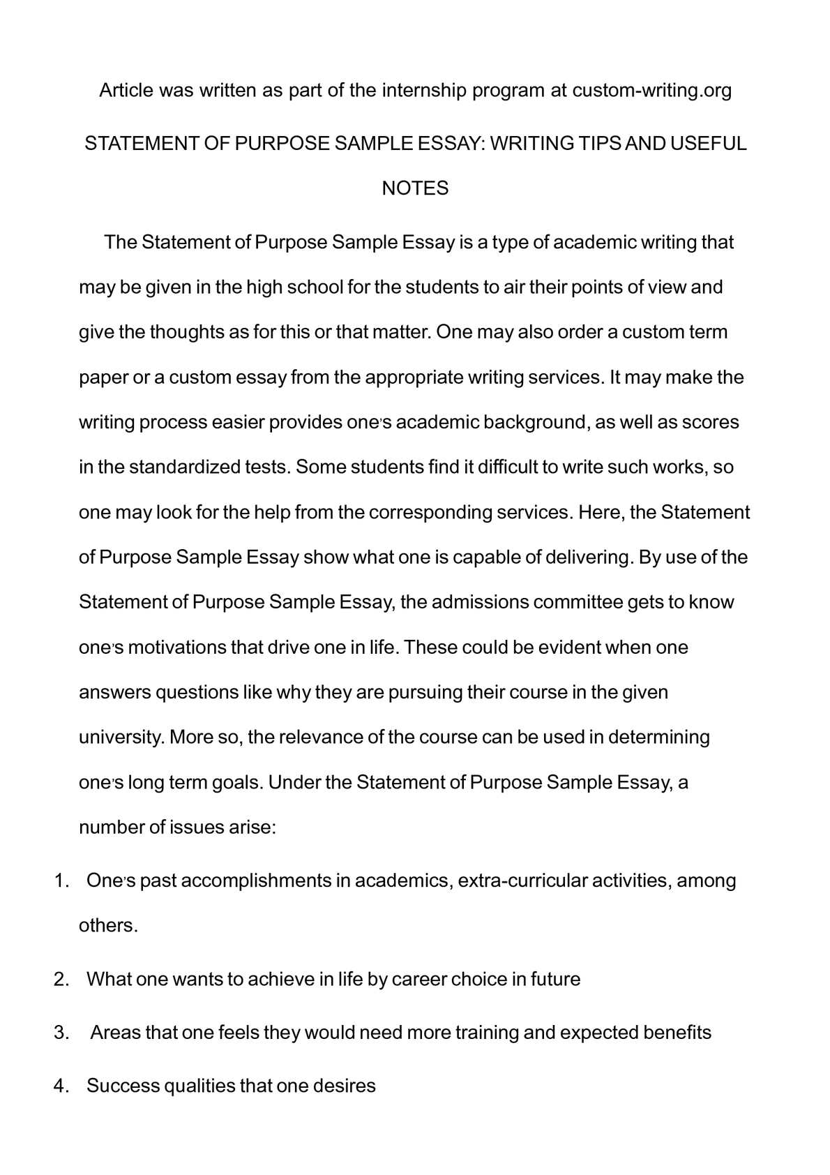 Calamo  Statement Of Purpose Sample Essay Writing Tips And Useful  Calamo  Statement Of Purpose Sample Essay Writing Tips And Useful Notes Student Life Essay In English also English Language Essay  How To Write A Proposal Essay Outline