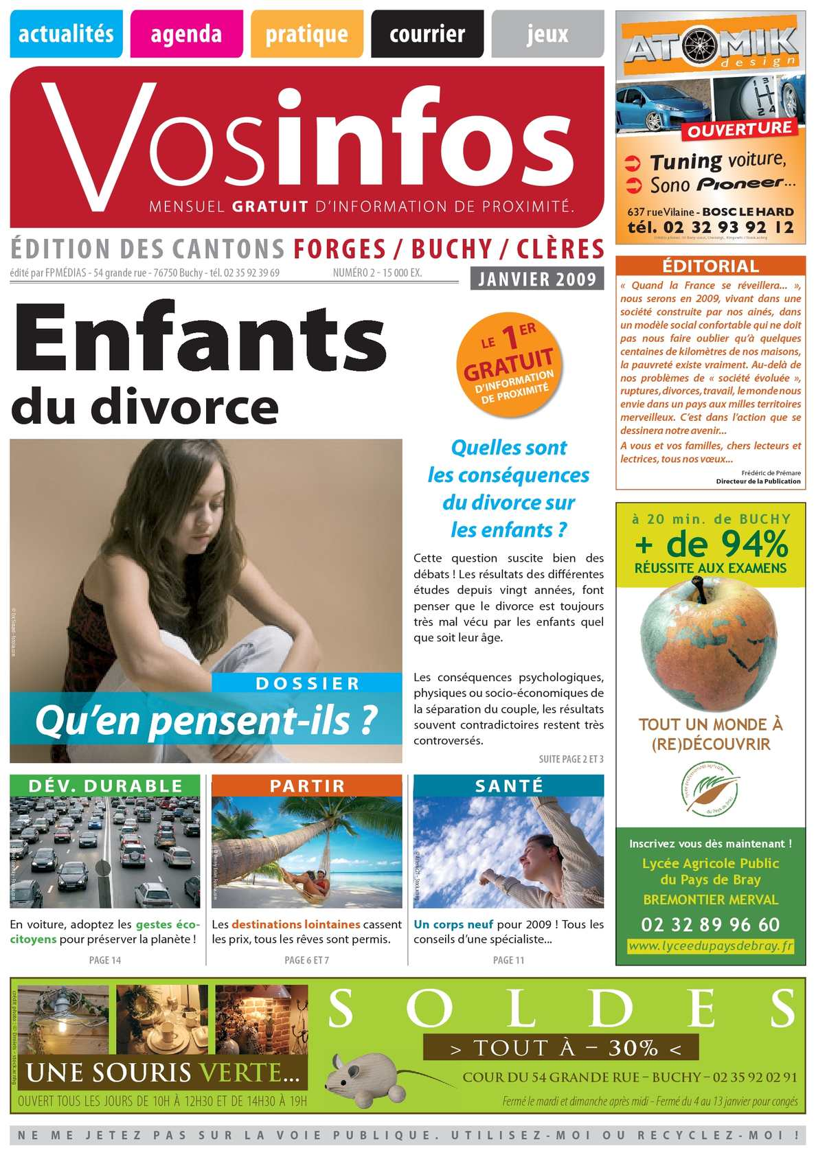 calam o journal vosinfos n 02 edition forges buchy cl res janvier 2009. Black Bedroom Furniture Sets. Home Design Ideas