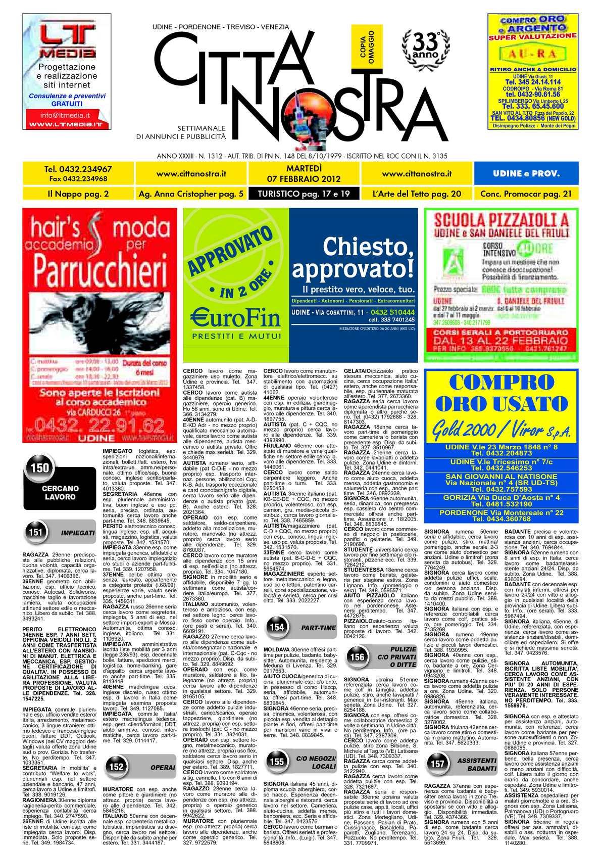 Calaméo Citt Nostra Udine Del 07 02 2012 N 1312