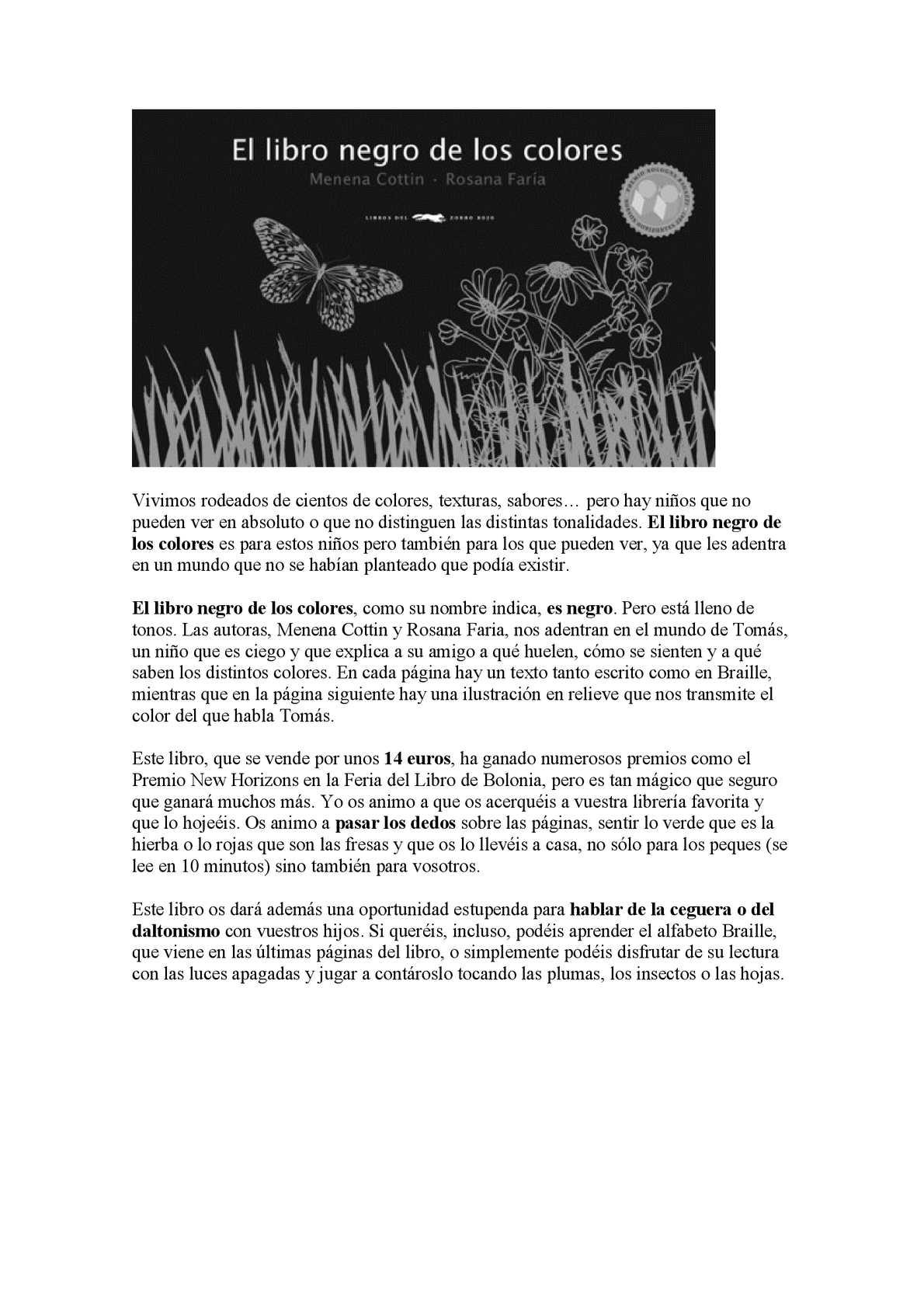 Calaméo - El libro negro de los colores