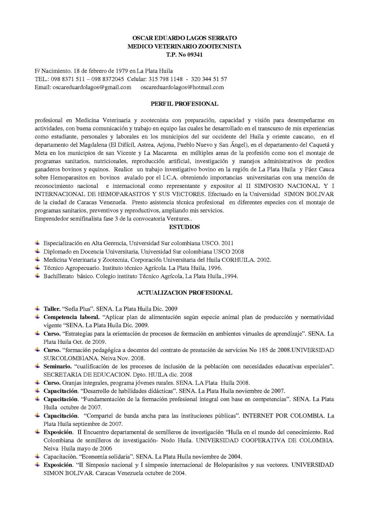Calaméo - HOJA DE VIDA DE OSCAR EDUARDO LAGOS