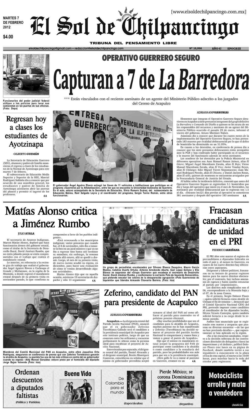 Calaméo - El Sol de Chilpancingo - 07 Febrero 2012