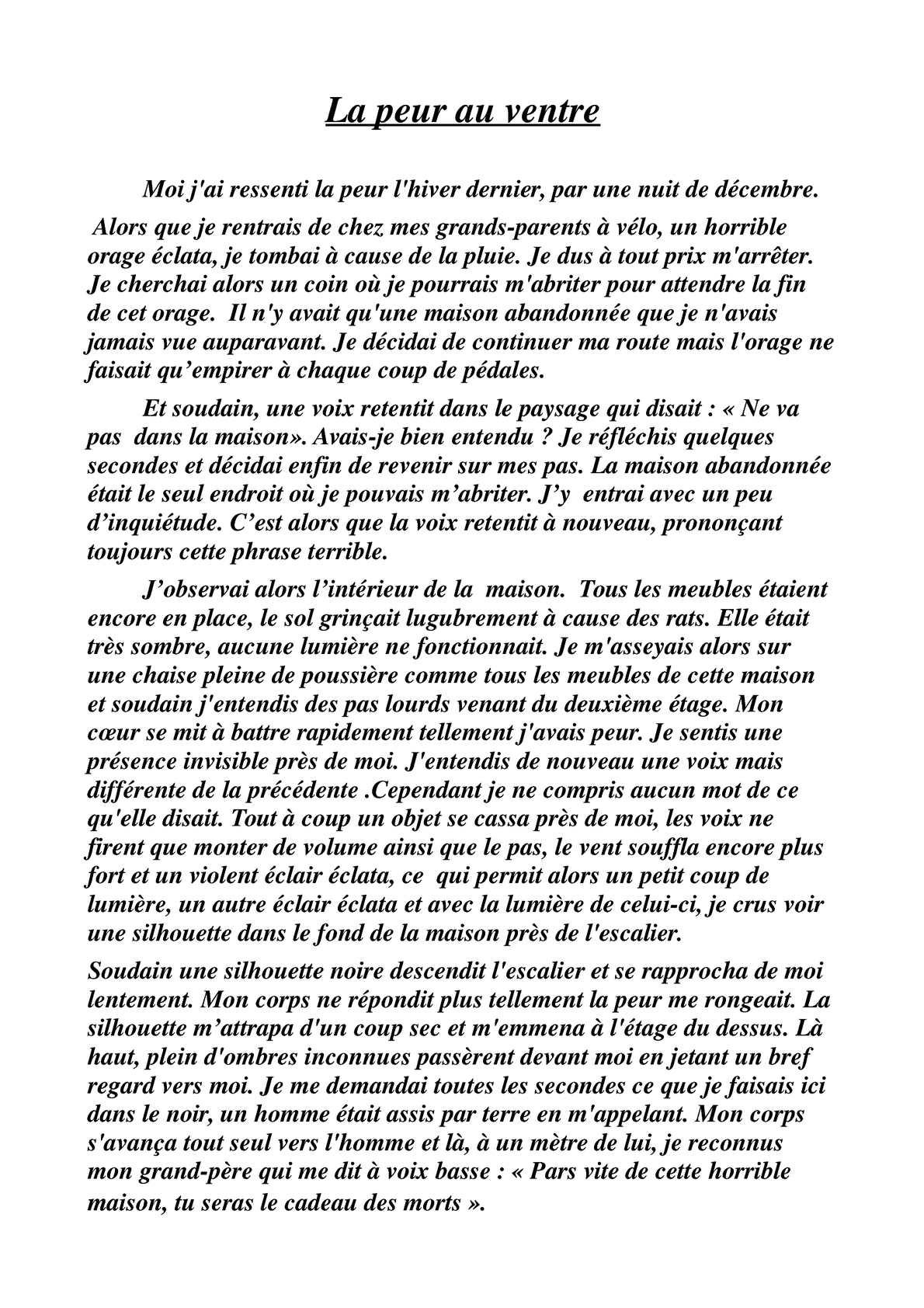 Calaméo - Nouvelles fantastiques des 4ème 5