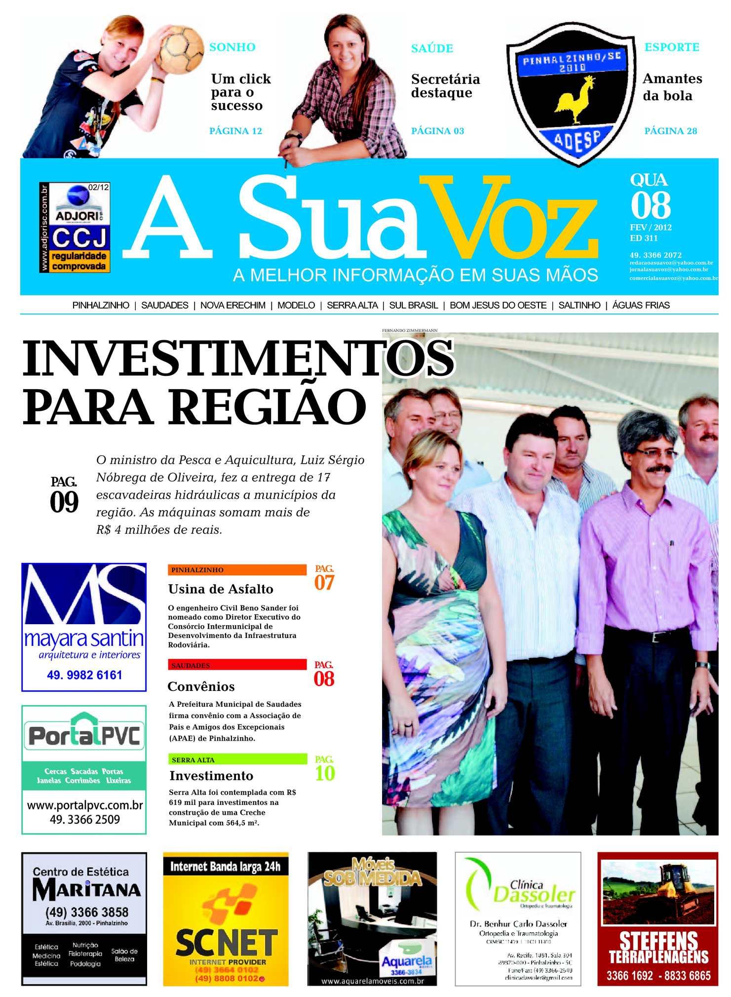 Calaméo - Jornal A Sua Voz - Edição 311 - 08 de Fevereiro de 2012 7e22b50755488
