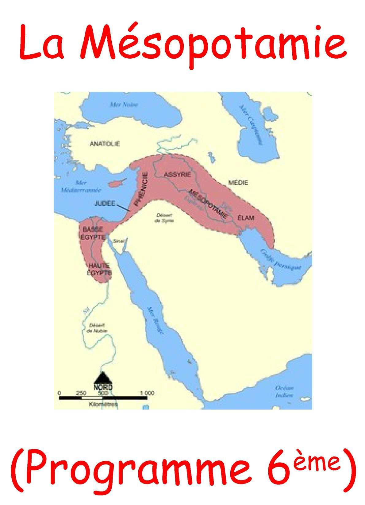 La Mésopotamie...découverte simple en 6e