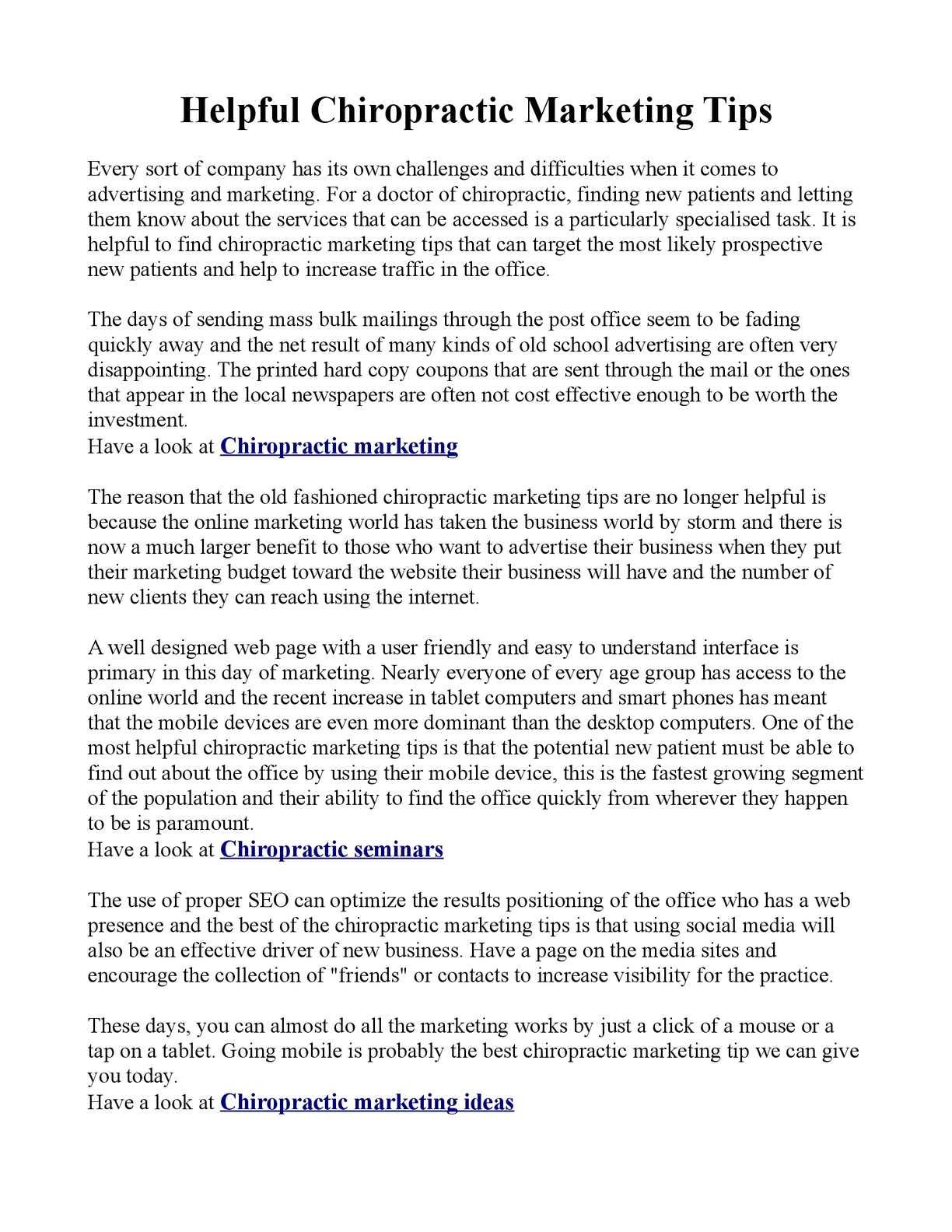 calaméo - helpful chiropractic marketing tips