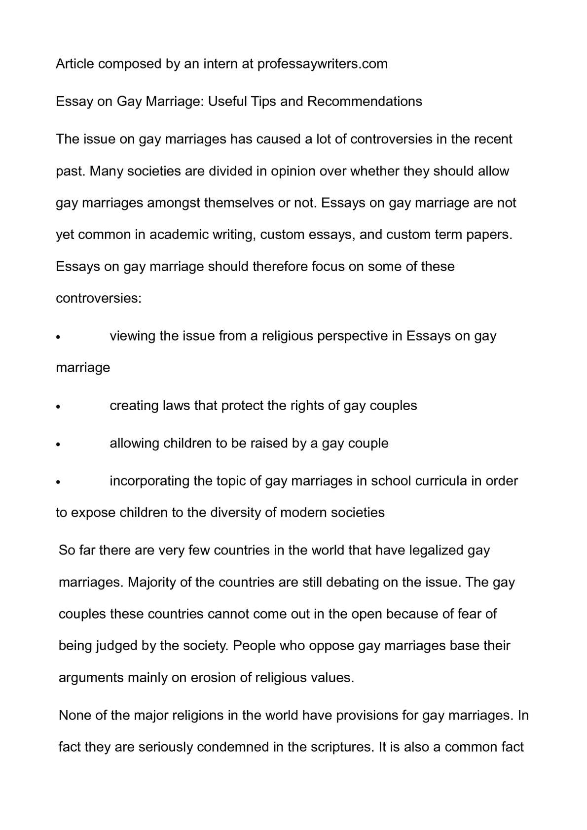 Calamo  Essay On Gay Marriage Useful Tips And Recommendations  Thesis Generator For Essay also Essays On Science Fiction  Cheap Essay Papers