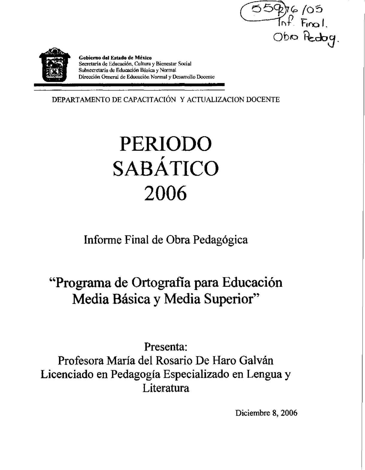 Calaméo - Programa de ortografía para Educación Media Básica y Media ...