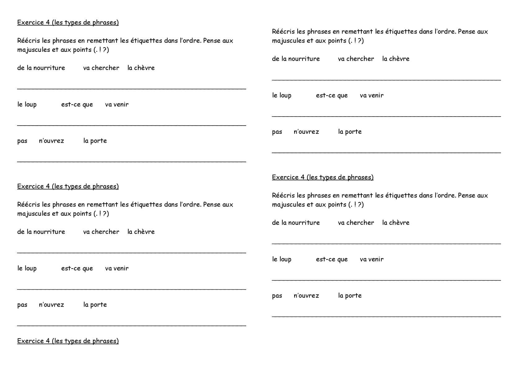 Calaméo - Cycle 2 : grammaire : types de phrases ...