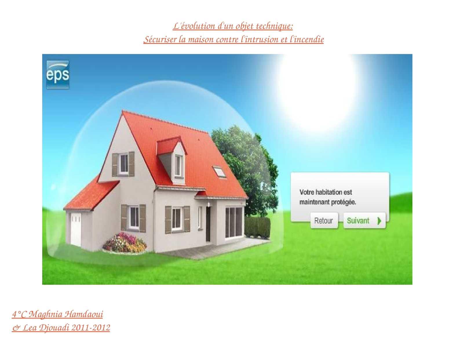 Calam o s curiser sa maison contre l 39 incendie et l 39 intrusion - Contre l humidite maison ...