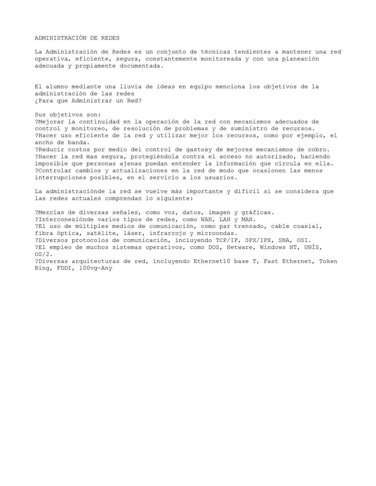 ADMINISTRACIÓN DE REDES redes