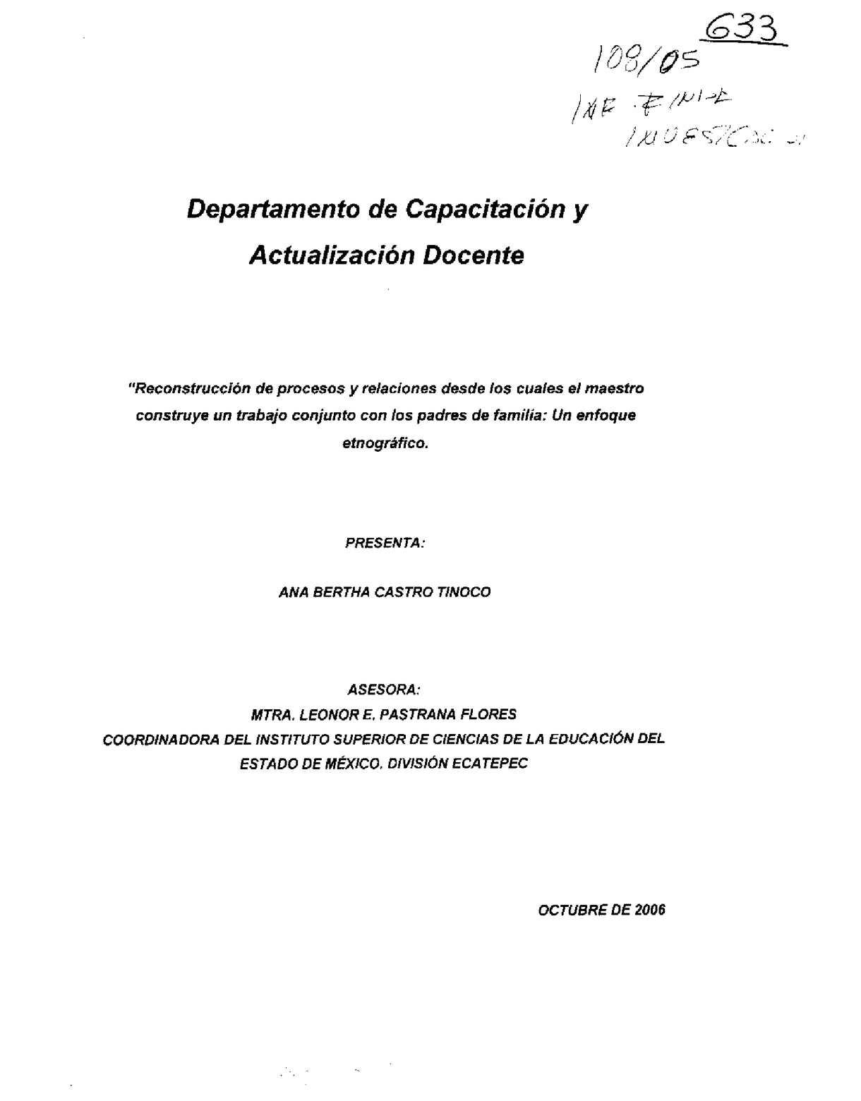 Calaméo - Reconstrucción de procesos y relaciones desde los cuales ...