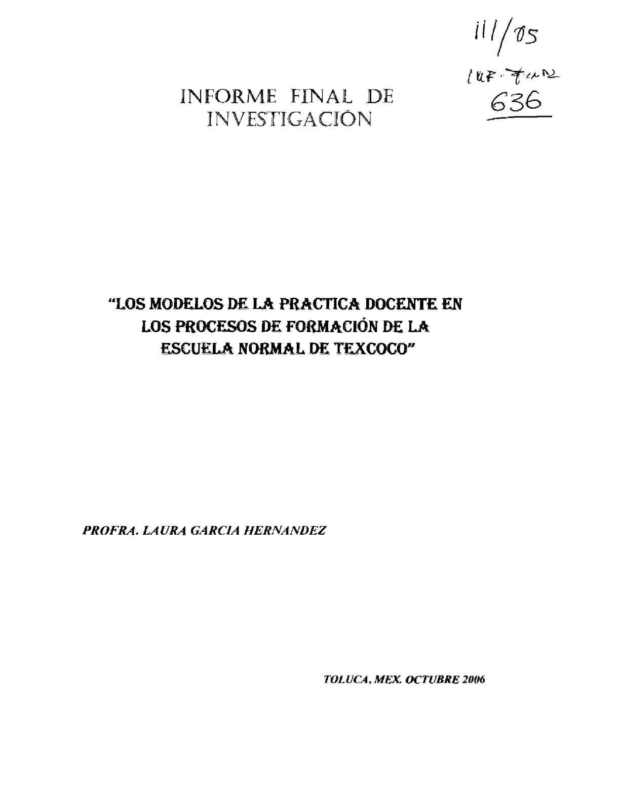 Calaméo - Los modelosde la práctica docente en los procesos de ...