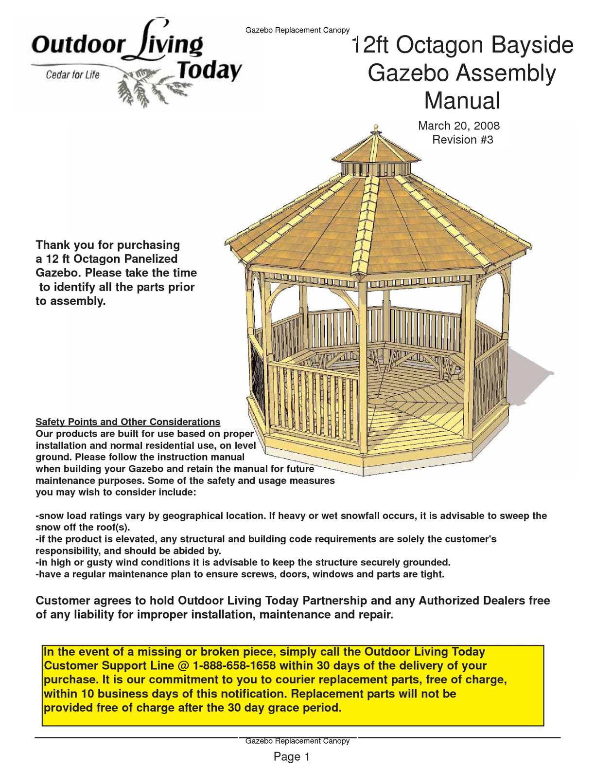 calam o 12 ft octagon bayside gazebo assembly manual rh calameo com Wooden Gazebo Octagon Gazebo Plans